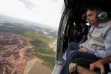 Foto do Sobrevoo do Presidente Jair Bolsonaro para ver o rompimento de Barragem do Córrego do Feijão, da Vale, em Brumadinho (MG) / Foto de Isac Nóbrega/ PR