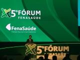 """Ministro da Saúde, Luiz Henrique Mandetta, fez a abertura do 5º Fórum FenaSaúde, apresentando a palestra magna """"O Desafio da Saúde Suplementar na Ampliação do Acesso da População aos Serviços de Saúde""""/ Foto de Sônia Araripe (Plurale)"""