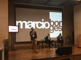 Márcio Borges, da WMcCann, palestrou na abertura do evento no Rio. Foto de Plurale.