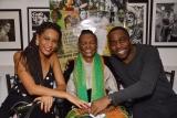 Aniversário de RUTH DE SOUZA , com a atriz Thais Araújo e o marido, o ator Lázaro Ramos - Foto de RAFAELA CASSIANO