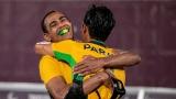 Jogos Paralímpicos de Tóquio - Nonato é abraçado por Paraná após fazer o gol do título. Brasil derrotou Argentina, conquistou ouro no fut 5 e alcançou melhor campanha em Jogos Paralímpicos/Foto:Alê Cabral/CPB/Foto: Alê Cabral/CPB