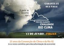 Evento Rio Clima 2017 comemora 25 anos da Convenção do Clima e da Rio 92  e debate novos caminhos para a descarbonização da economia