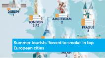 Poluição nas cidades europeias faz turistas 'fumarem' neste verão