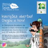 Inscrições abertas para a 10ª edição da Olimpíada Brasileira de Saúde e Meio Ambiente (2019-2020)