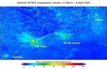 ESPECIAL CORONAVÍRUS - Imagens de satélite confirmam redução na poluição de São Paulo