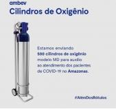 ESPECIAL CORONAVÍRUS - Ambev e Ball enviam 500 cilindros com oxigênio para o Amazonas