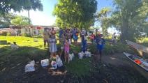 Sesc Pantanal, Judiciário e ONG doam cestas básicas e combustível para comunidade indígena