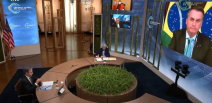 Biden e Kamala Harris não estavam presentes durante discurso de Bolsonaro