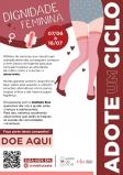 Universidade Veiga de Almeida arrecada absorventes íntimos femininos para a campanha