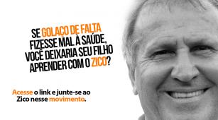 Zico apoia campanha da Aliança de Controle do Tabagismo