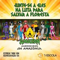 Saga de super-heróis em defesa da Amazônia vira desenho animado