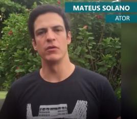 O ator Mateus Solano participa do movimento #uerjresiste