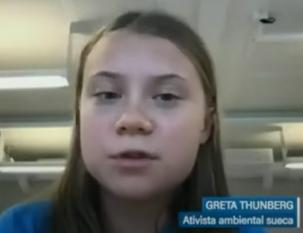É preciso proteger a Amazônia e os povos indígenas, defende Greta Thunberg (TV Senado)