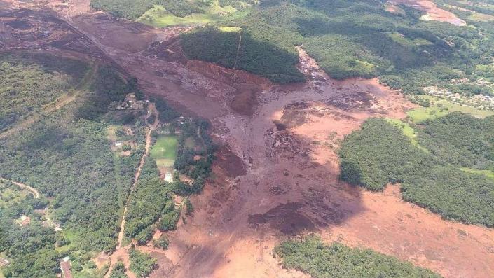 Foto do rompimento de Barragem do Córrego do Feijão, da Vale, em Brumadinho (MG) / Da Agência Brasil