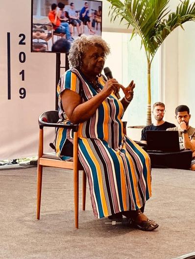 A escritora Conceição Evaristo foi um dos destaques do 1º Flisgo. Foto de Divulgação.