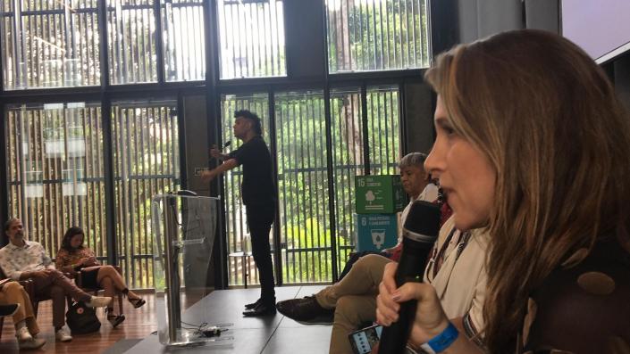 Virada Sustentável do Rio de Janeiro - Márcia Massotti fala no Fórum de abertura foi realizado na Casa Firjan - Foto de Sônia Araripe / Plurale.