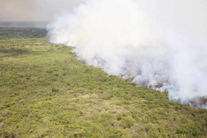 Operação Pantanal II - Bombeiros, brigadistas e voluntários tentam controlar focos de incêndio no Pantanal - FOTOS DE JEFERSON PRADO