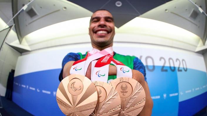 Jogos Paralímpicos de Tóquio - Dono de 27 medalhas paralímpicas, sendo três delas conquistadas nos Jogos de Tóquio, Daniel participou da última prova de sua carreira no dia 1º de setembro, os 50m livre, e ficou em quarto lugar. Em janeiro deste ano, o nadador anunciou sua aposentadoria das piscinas- Foto: Rogério Capela /CPB