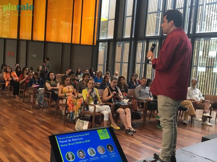 O jornalista André Trigueiro participa do Fórum de Abertura da Virada Sustentável, na Casa Firjan. Foto de Sônia Araripe (Plurale)