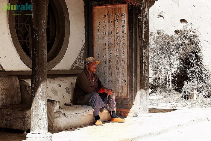 Camponês em Gansu, província da China - Foto de Hélio Rocha - Plurale na China